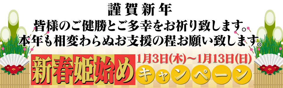 謹賀新年 新春姫始めキャンペーン