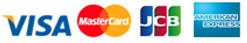 有効カード VISA、MASTERCARD、JCB、AMEX、DINERS