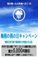 梅雨の雨割