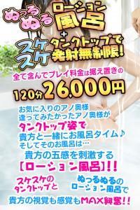ぬっるぬるローション風呂!!!