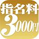 特別指名料3,000円