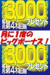 3000ptプレゼント