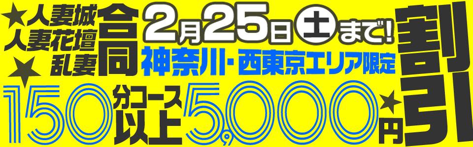 神奈川・西東京限定150分コース以上5000円割