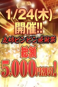 1/24(木)総額5000円割引!!