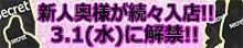 新人奥様が続々入店!!3.1(水)に解禁!!
