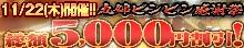 11月22日(木)は総額最大5,000円割引!